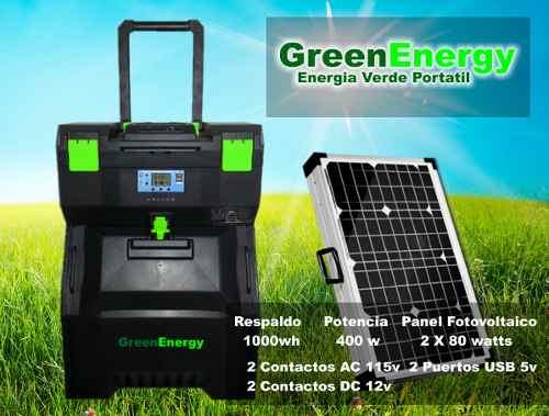 Plantas y Generadores de Luz Marca Greenenergy
