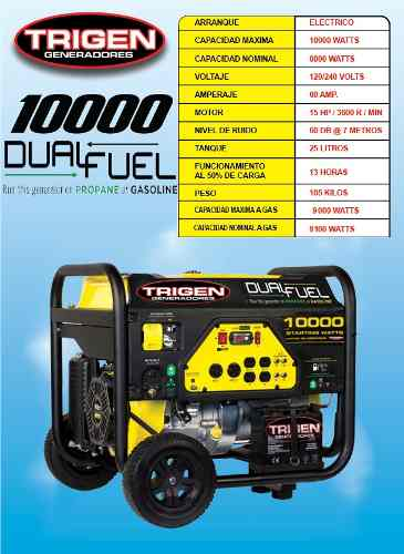 Plantas y Generadores de Luz Marca Trigenmod.Dual10000a/e